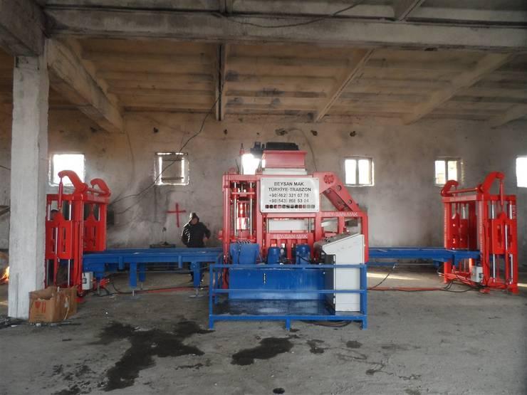 مصنع بلوك اسمنتي - ماكينة انترلوك :  شركات تنفيذ BEYAZLI GROUP