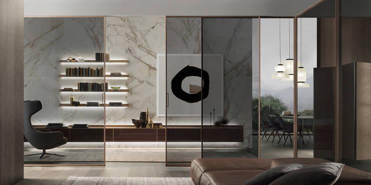 Schuifdeuren In Glas.Rimadesio Velaria Moderne Glazen Schuifdeuren Op Maat In Glas En