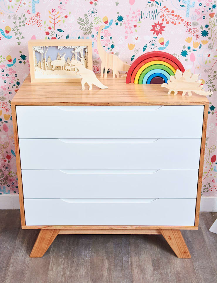 Cajonera Eloy: Dormitorios infantiles  de estilo  por Minihaus Kids,