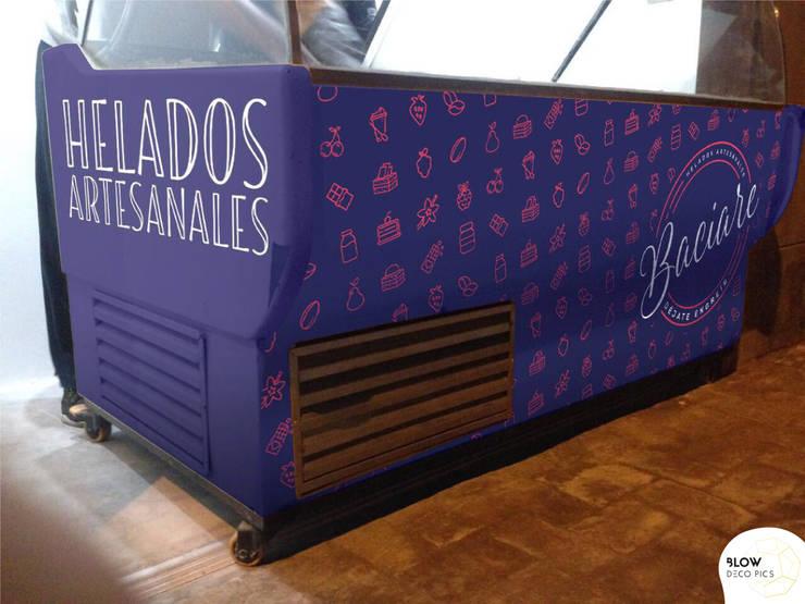 Baciare Heladería Artesanal:  de estilo  por Blow Deco Pics , Moderno