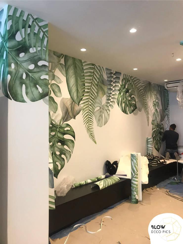 Cafetería Barra Alquimia: Paredes de estilo  por Blow Deco Pics