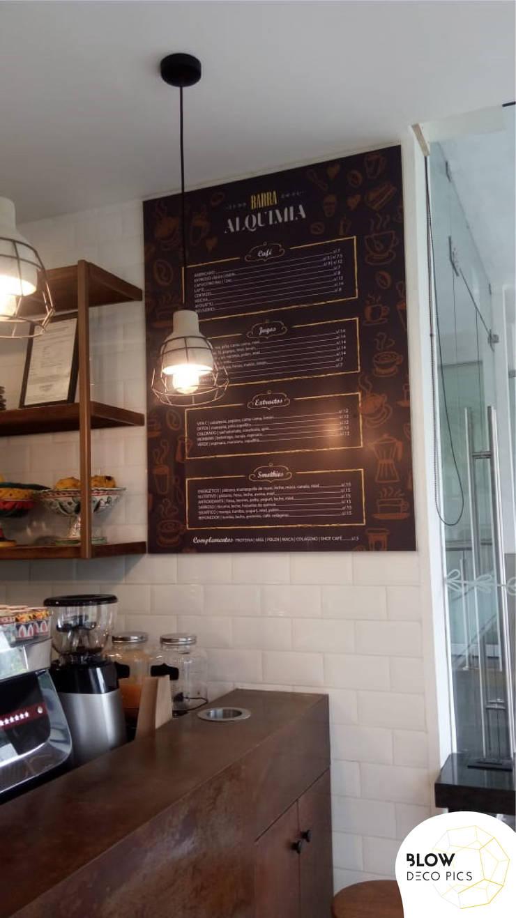 Cafetería Barra Alquimia: Tiendas y espacios comerciales de estilo  por Blow Deco Pics