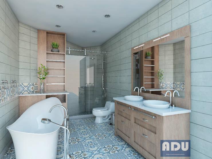 Cuarto de Baño: Baños de estilo  por ADU ARQUITECTOS
