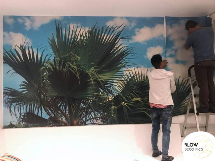 Decoración de Casa de Playa: Paredes de estilo  por Blow Deco Pics