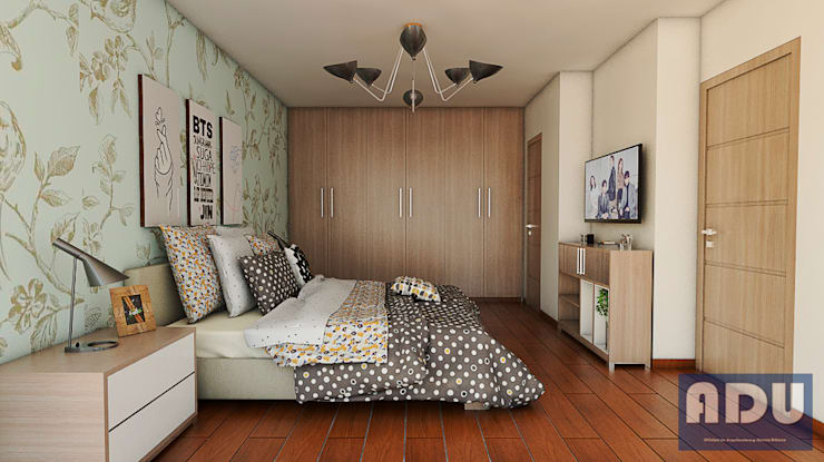 Habitación Principal: Habitaciones de estilo  por ADU ARQUITECTOS