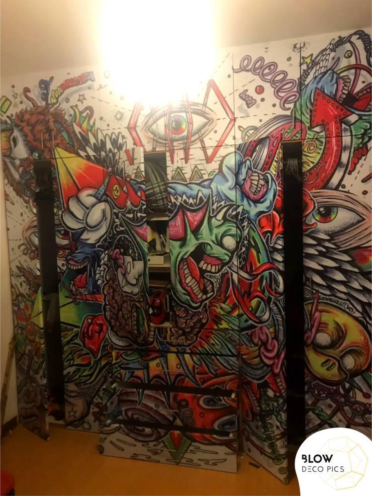Decoración dormitorio niño - La Molina: Dormitorios de estilo  por Blow Deco Pics