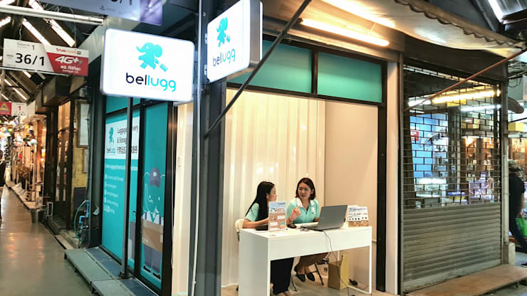 ร้าน Bellugg สาขาสวนจตุจักร:  อาคารสำนักงาน ร้านค้า by PANI CREAT STUDIO CO., LTD.