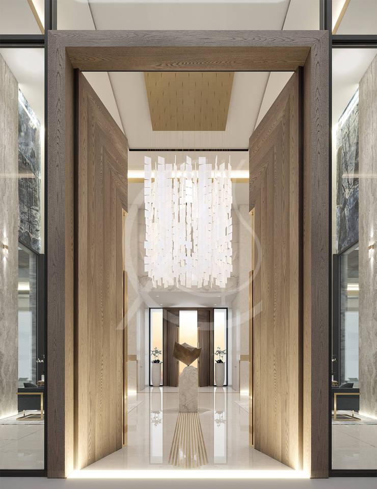 Pasillos y vestíbulos de estilo  de Comelite Architecture, Structure and Interior Design ,
