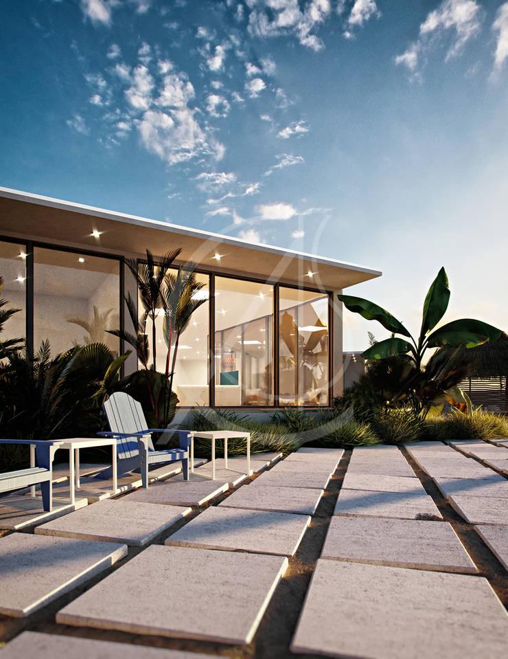 Modern Beach House Design:  Villas by Comelite Architecture, Structure and Interior Design