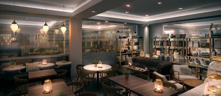 Restaurante Nordelta:  de estilo  por Renders + Arquitectura
