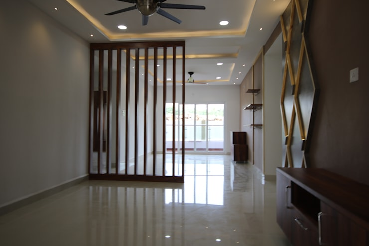 Living - Dining Room :  Living room by Enrich Interiors & Decors