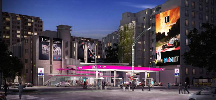 Estacion Axion Libertador:  de estilo  por Renders + Arquitectura,