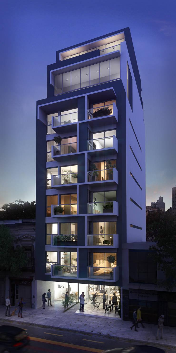 Fachada Caballito:  de estilo  por Renders + Arquitectura,