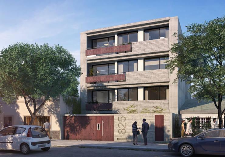 Exterior Edificio Zona Norte:  de estilo  por Renders + Arquitectura
