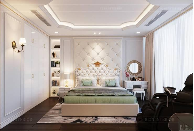 Phong cách Tân Cổ Điển – Ngôi nhà thiết kế sáng tạo, truyền cảm hứng cuộc sống:  Phòng ngủ by ICON INTERIOR