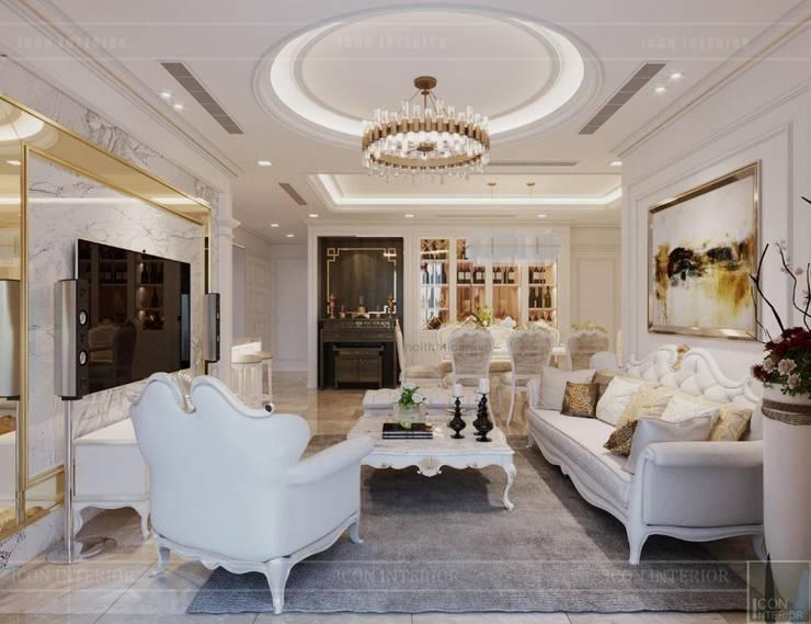 Phong cách Tân Cổ Điển – Ngôi nhà thiết kế sáng tạo, truyền cảm hứng cuộc sống:  Phòng khách by ICON INTERIOR