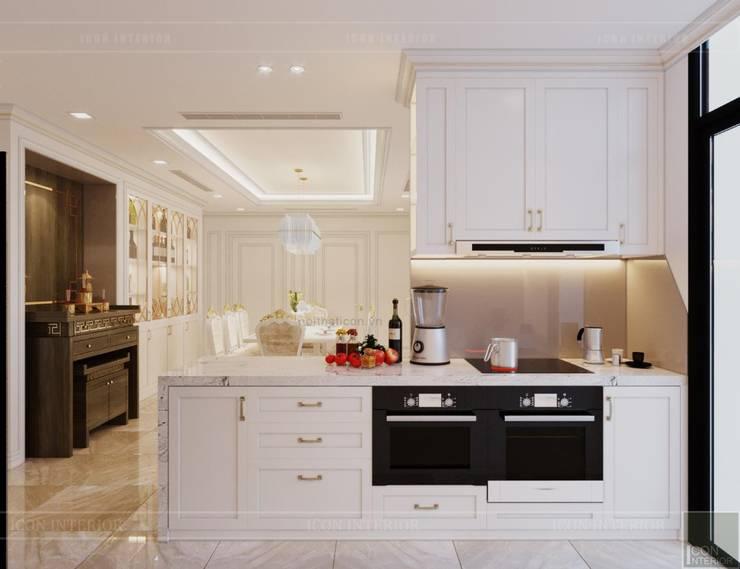Phong cách Tân Cổ Điển – Ngôi nhà thiết kế sáng tạo, truyền cảm hứng cuộc sống:  Nhà bếp by ICON INTERIOR