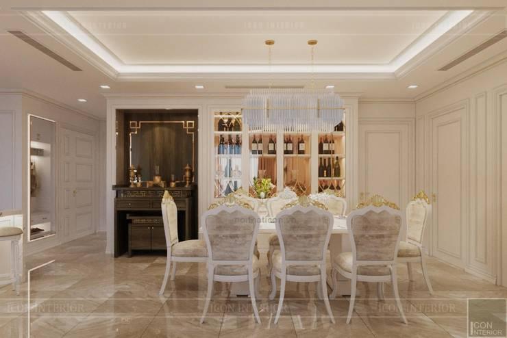 Phong cách Tân Cổ Điển – Ngôi nhà thiết kế sáng tạo, truyền cảm hứng cuộc sống:  Phòng ăn by ICON INTERIOR