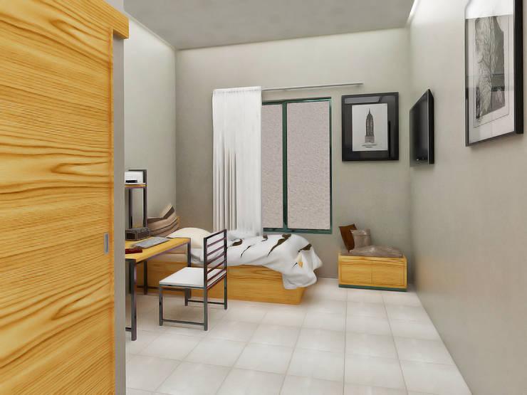 Rumah Kos Condong Catur:   by Papan Architect