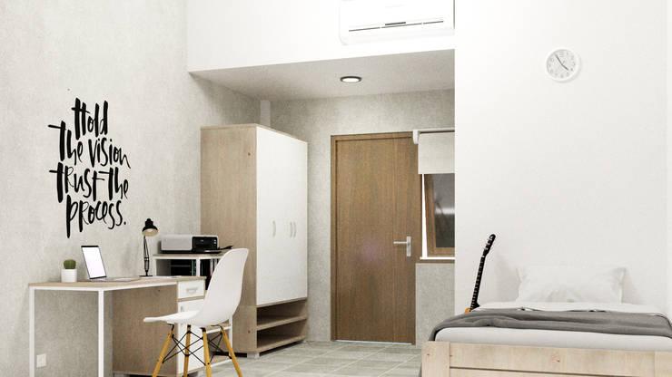 Rumah Kos Ibu Ayu:   by Papan Architect