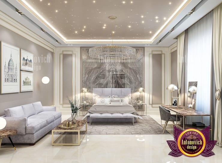 Top Elegant Bedroom Interior Design:   by Luxury Antonovich Design