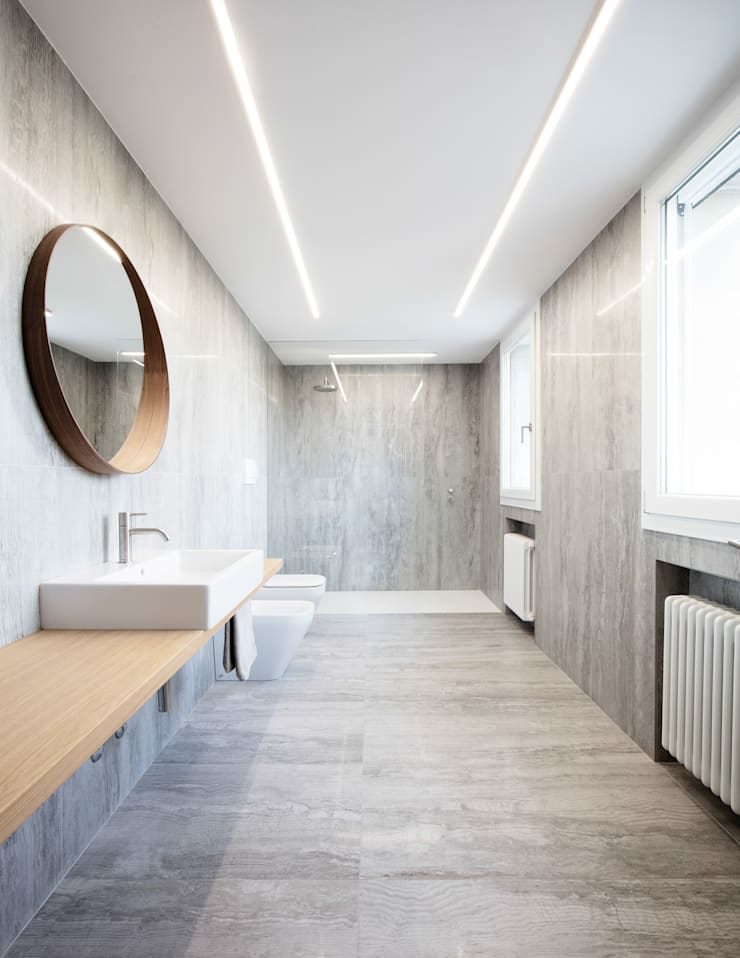 Kamar Mandi oleh Didonè Comacchio Architects, Minimalis