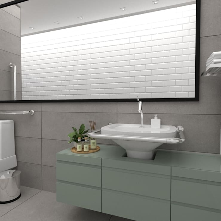 Baños de estilo  por Simone Martini Arquitetura