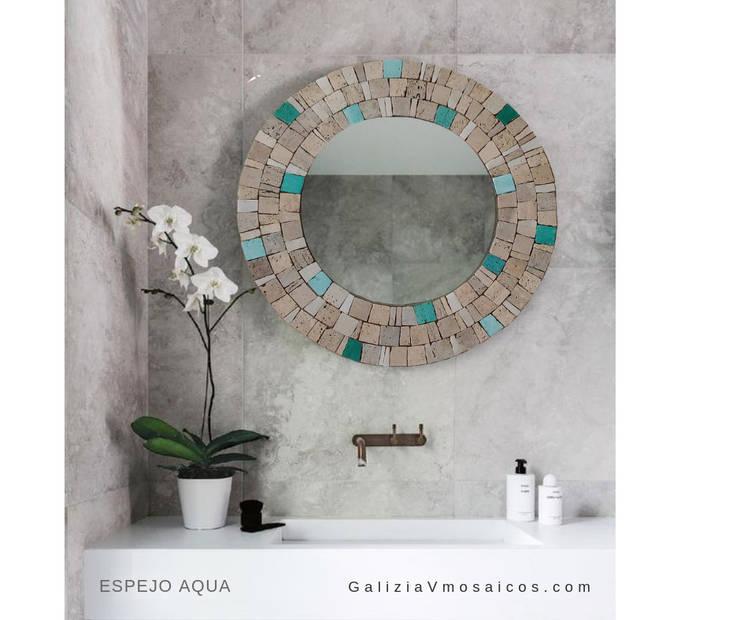 Espejo Aqua: Baños de estilo  por GALIZIA V Mosaicos,