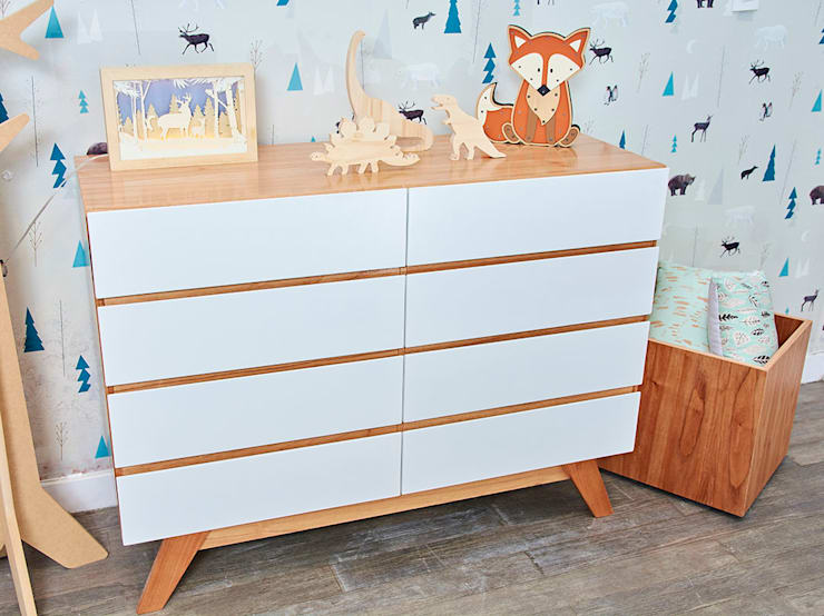 Cajonera Oliver: Dormitorios infantiles  de estilo  por Minihaus Kids,