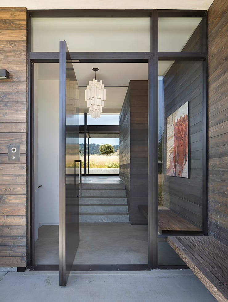 The Meadow Home:  Front doors by Feldman Architecture