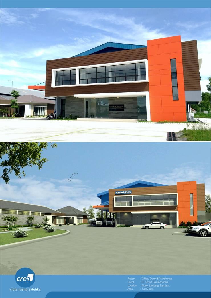 Smartgas Office & Factory:  oleh Crea architect, Minimalis