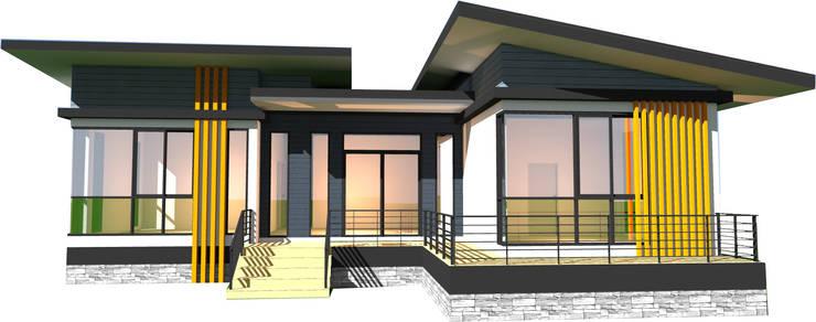 บ้านชั้นเดียว:  บ้านและที่อยู่อาศัย by บริษัท พี นัมเบอร์วัน ดีไซน์ แอนด์ คอนสตรัคชั่น จำกัด