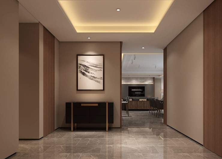 3D示意圖3:  走廊 & 玄關 by VH INTERIOR DESIGN