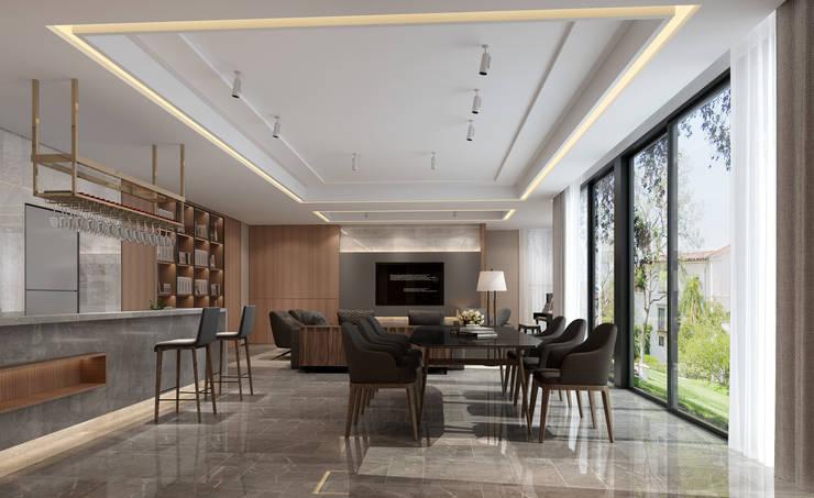 3D示意圖3:  餐廳 by VH INTERIOR DESIGN
