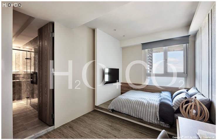 光合‧景宴:  小臥室 by 光合作用設計有限公司