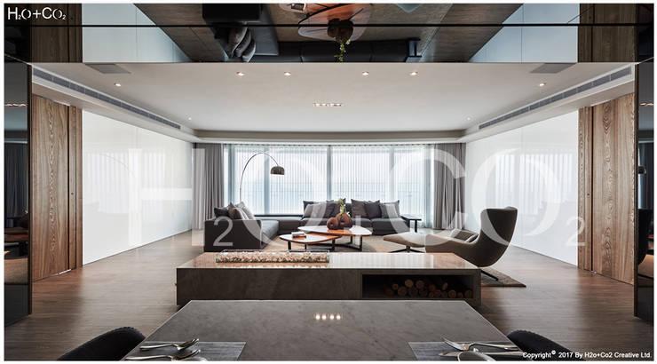 光合‧景宴:  客廳 by 光合作用設計有限公司