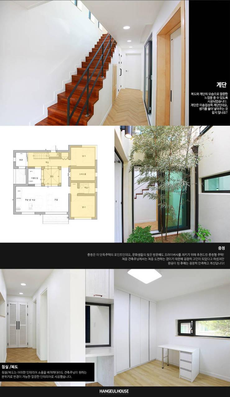 [경북 경산시] 작은정원 '중정'을 품다_1층 내부: 한글주택(주)의  실내 정원,