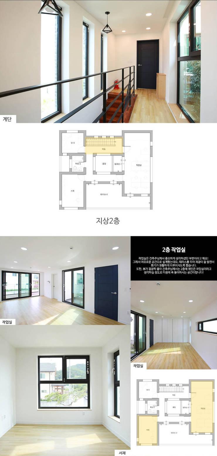 [경북 경산시] 작은정원 '중정'을 품다_2층 내부: 한글주택(주)의  방,