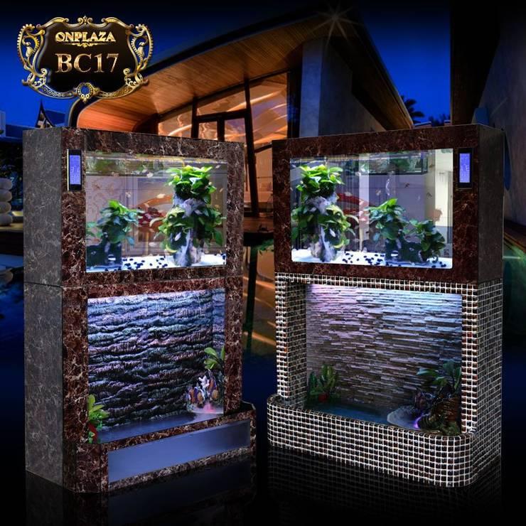 Bể thủy sinh 2 tầng chân khảm đá cao cấp BC17:   by Công Ty Thi Công Và Thiết Kế Tiểu Cảnh Non Bộ
