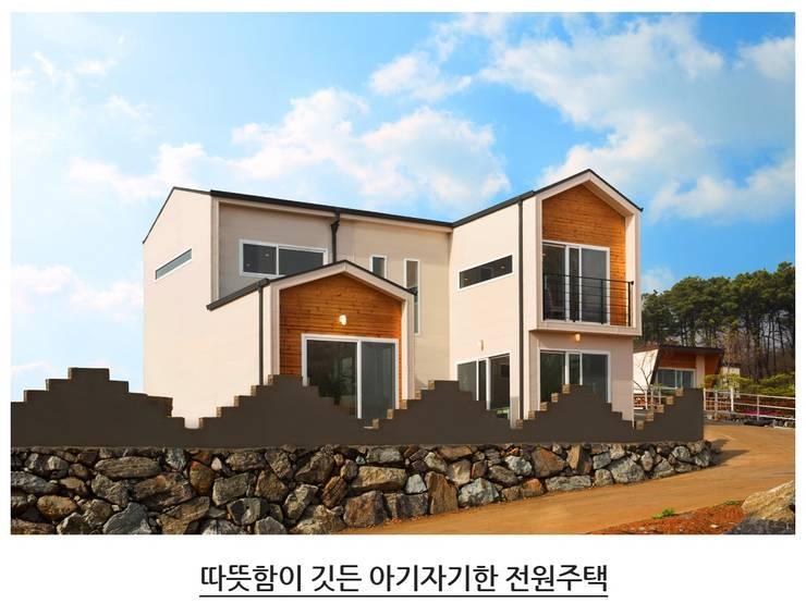 Casas de estilo  por 공간제작소(주), Moderno