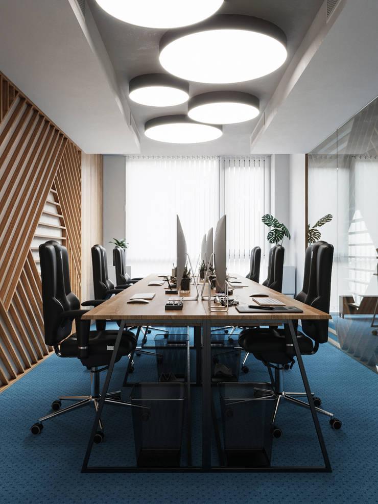 Bürogebäude von Дизайн интерьера Киев|tishchenko.com.ua