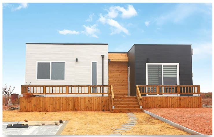 집의 본질을 생각한 미니멀리즘 전원주택: 공간제작소(주)의  주택,