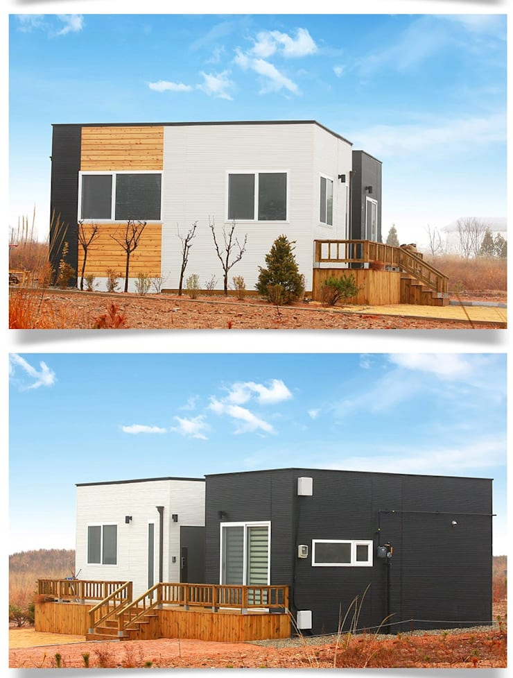 집의 본질을 생각한 미니멀리즘 전원주택_외관: 공간제작소(주)의  주택,