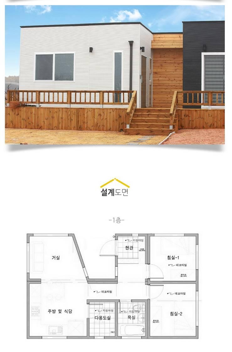 집의 본질을 생각한 미니멀리즘 전원주택_내부: 공간제작소(주)의  주택,