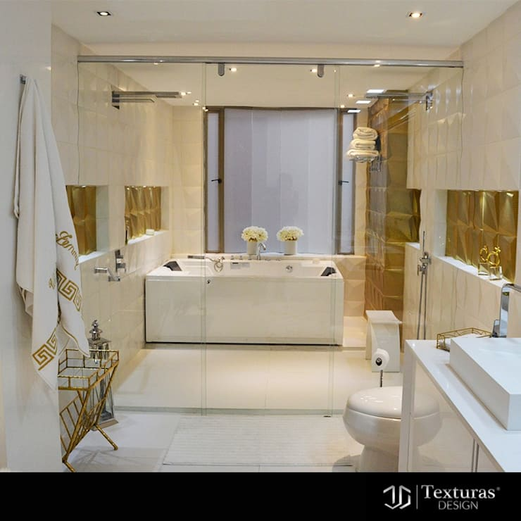 Modern bathroom by Texturas Design Modern