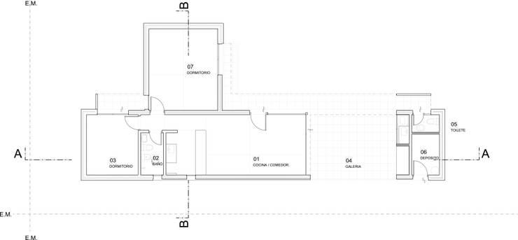 Plano de planta:  de estilo  por 2B Arquitectura,