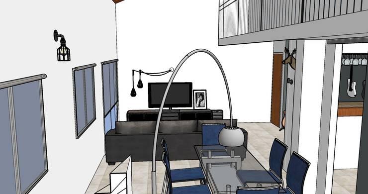 Casa Musico: Livings de estilo  por G.S interiores,