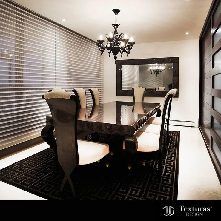 Comedor :  de estilo  por Texturas Design, Moderno