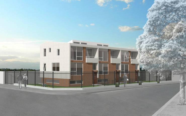 Condominio Buenaventura: Condominios de estilo  por Materia prima arquitectos