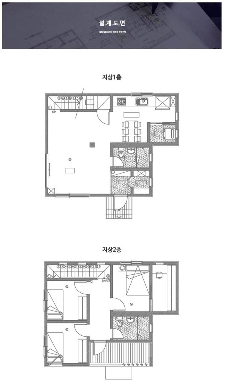 공기 순환이 좋은 구조. 센스있는 전원주택_도면: 공간제작소(주)의  목조 주택,